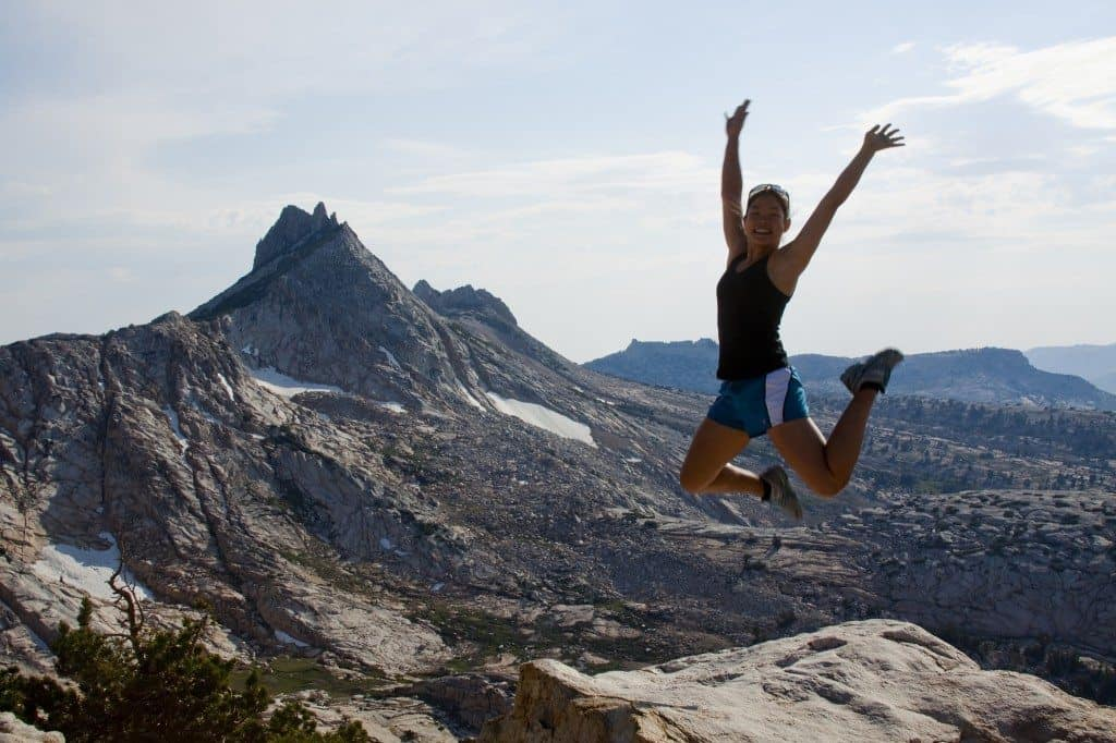 mountain girl jump