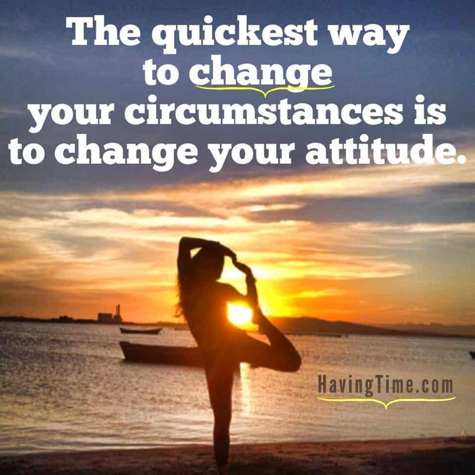 change attitude