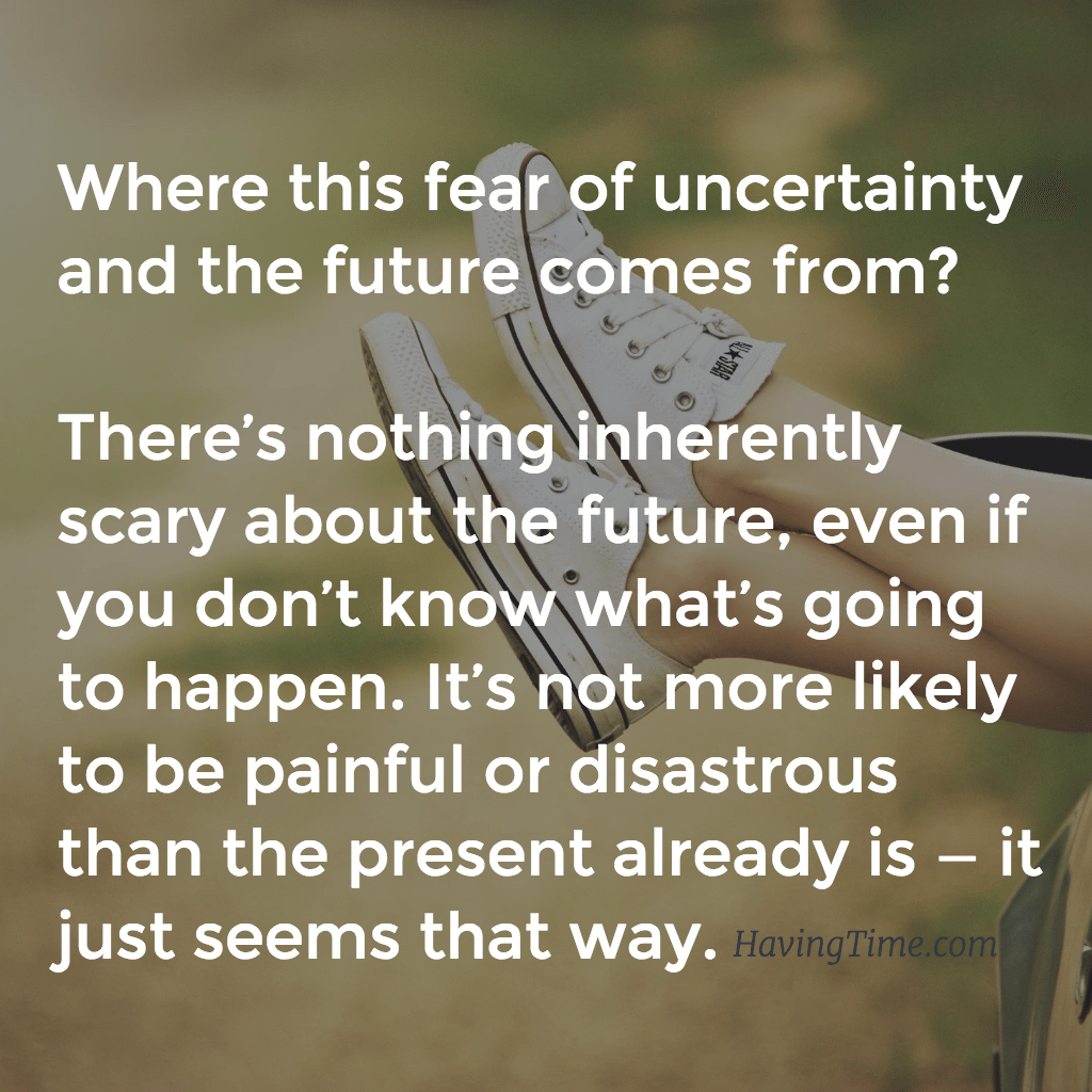 finding comfort in uncertainty