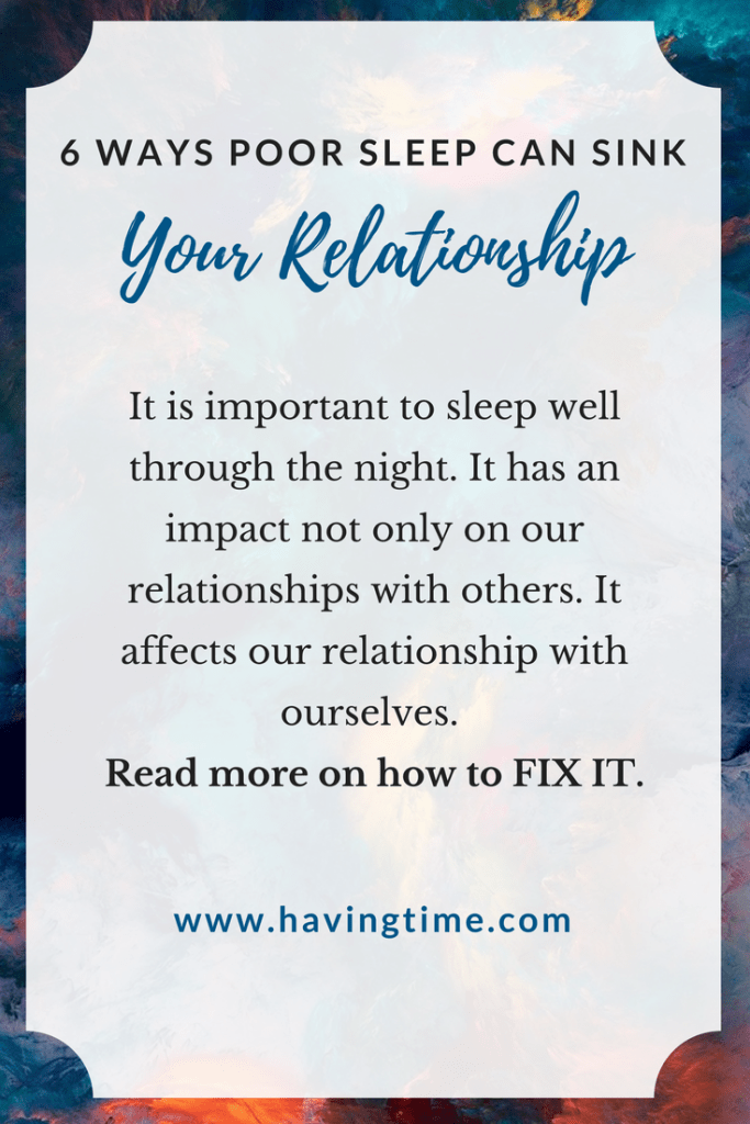 Poor Sleep Can Sink Your Relationship