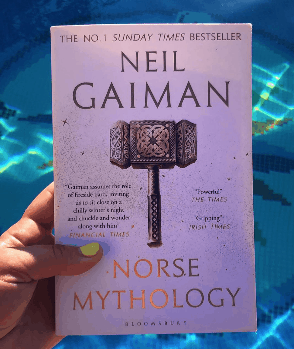 when bored read norse mythology by Neil Gaiman